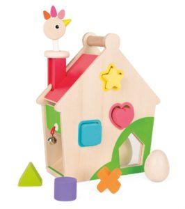 Janod activiteitenhuis kip speelgoed