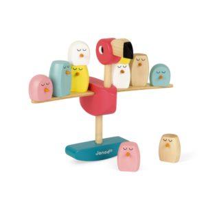 Janod houten evenwichtspel flamingo speelgoed